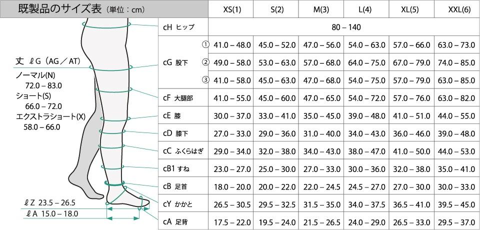 【サイズ表】Juzoソフト ストッキング