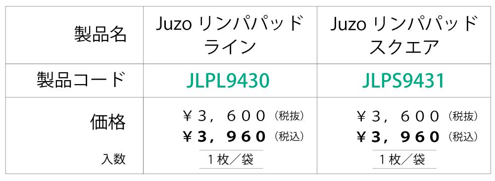 【価格表】Juzoリンパパッド