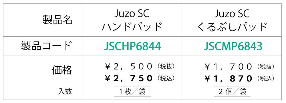 【価格表】Juzoソフトコンプレス(SC)